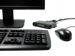 Thin clients have normal connections for USB drives, scanners, printers, speakers and keyboard and mouse.